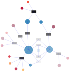 Exploring collaboration networks modelled as bigraph